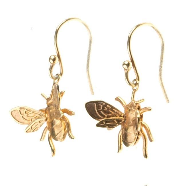 Kolczyki Złote Pszczoły