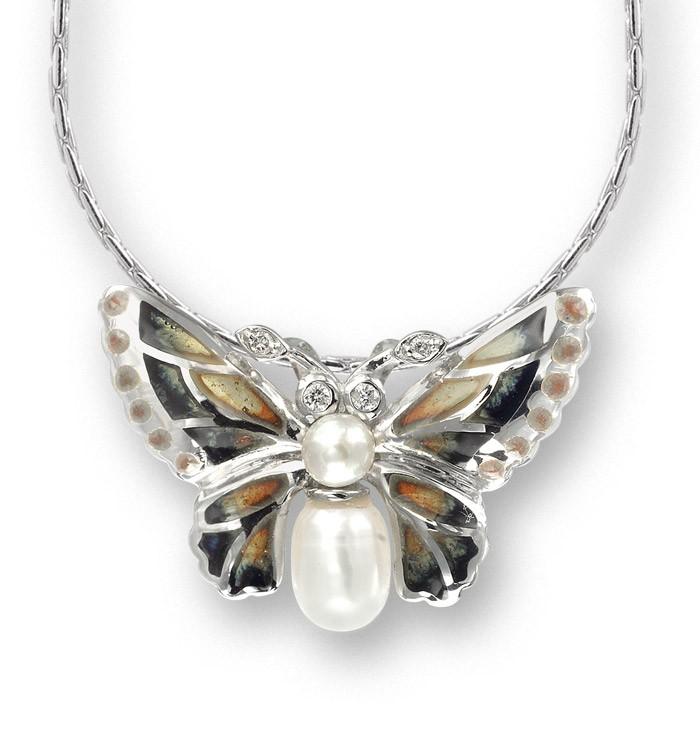 Naszyjnik z emalią Motyl