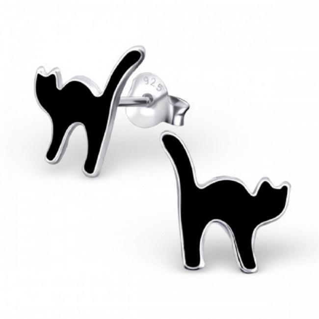 Kolczyki z Czarnym Kotem