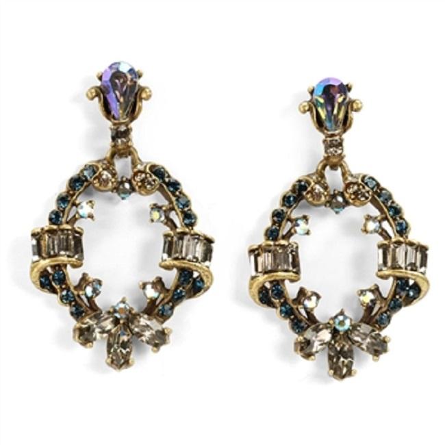 kolczyki pętla z kryształami