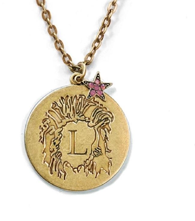 znak zodiaku retro lew