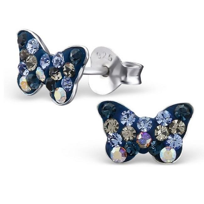 Kolczyki Kryształowe Motylki
