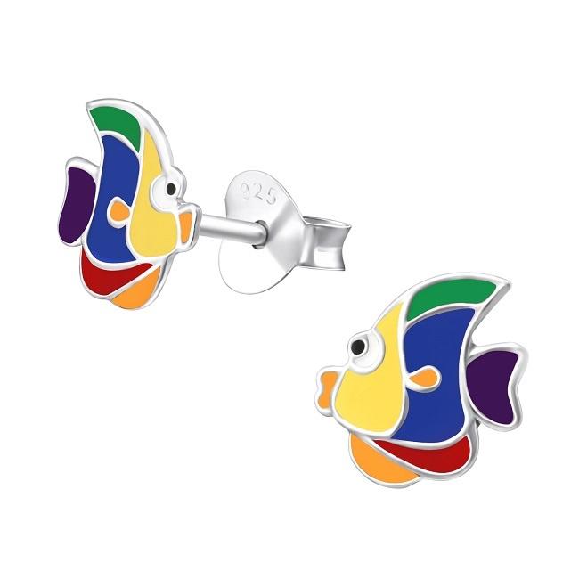 Kolczyki z Kolorową Rybką