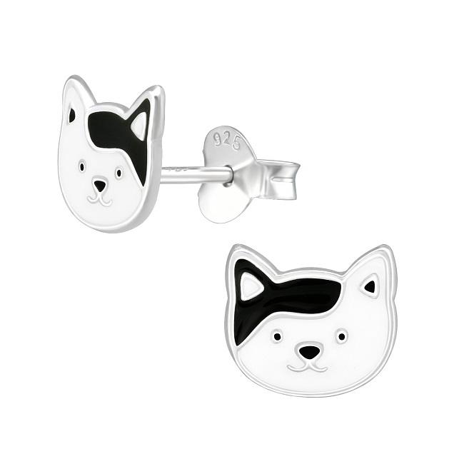 Kolczyki Czarno-Biały Kot