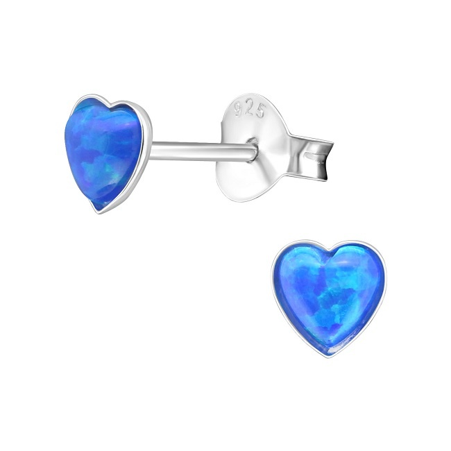 Kolczyki Niebieskie Serduszka