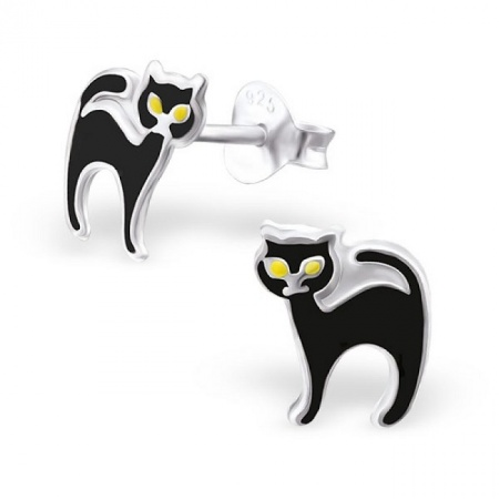 Kolczyki Czarny Kot