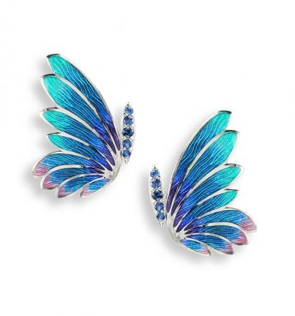 Kolczyki Motyl z Emalią