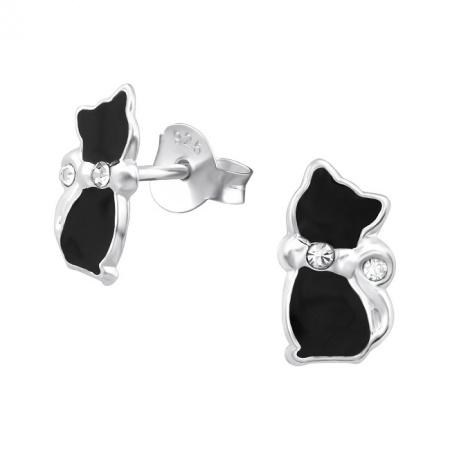 Kolczyki Czarne Koty