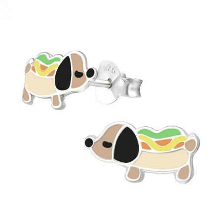 Kolczyki Zabawny Pies