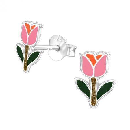 Kolczyki Tulipan