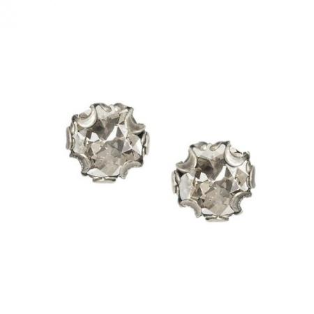 Kolczyki z Okrągłym Kryształem