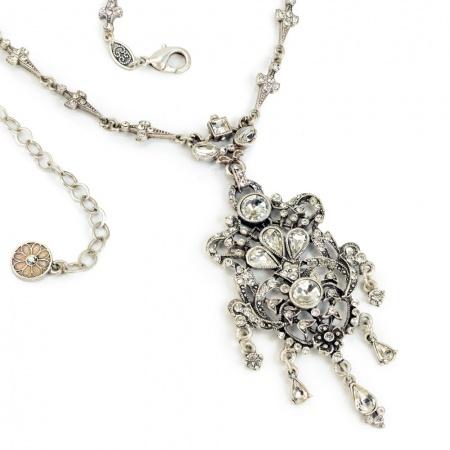 Naszyjnik ślubny z kryształami