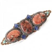 Broszka vintage lapis lazuli