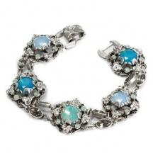 bransoletka niebieskie opale