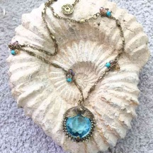 Naszyjnik Retro Błękitny