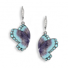 kolczyki motyle z emalią