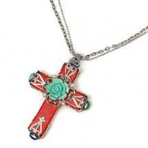 Naszyjnik krzyż meksykański styl