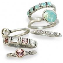 Komplet 6 pierścionków silver