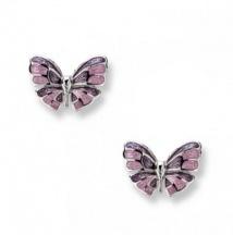 Kolczyki Liliowe Motylki