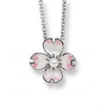 Wisiorek z perłą Kwiat derenia