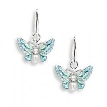 Kolczyki motyle z perłami