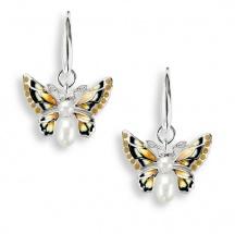Kolczyki z emalią motyle