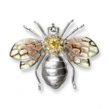 Broszka pszczoła z emalią