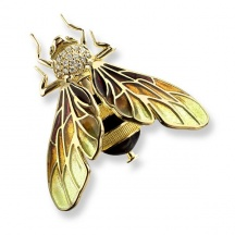 Złota broszka pszczoła
