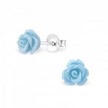 Kolczyki z Niebieską Różą