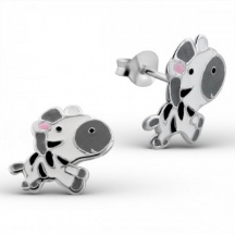 Kolczyki z zebrą