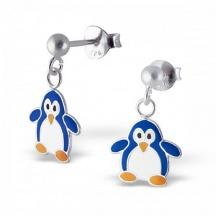 kolczyki z pingwinem