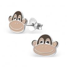 kolczyki z małpką