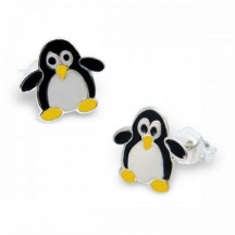 Kolczyki pingwiny