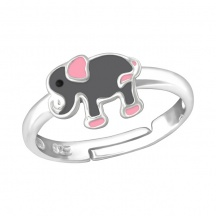 Pierścionek dziecięcy ze słoniem