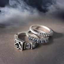komplet pierścionków longevity 7