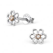 kolczyki malutkie kwiatuszki