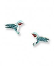 Kolczyki z kolibrem
