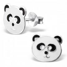 kolczyki miś panda