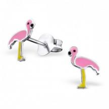 Kolczyki różowe flamingi