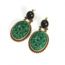 Kolczyki Vintage Jadeit