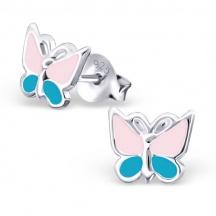 Kolczyki z Kolorowym Motylkiem
