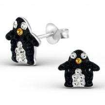 Kolczyki Kryształowe Pingwiny