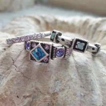 komplet pierścionków longevity 8