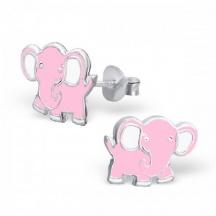 Kolczyki Różowe Słonie