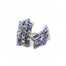 Kolczyki Błękitne Kryształy