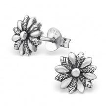 Srebrne Kolczyki z Kwiatkiem