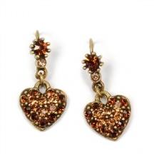Kolczyki Serce z Kryształkami