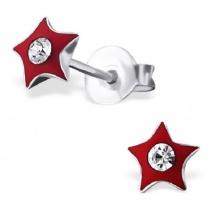 Kolczyki Czerwone Gwiazdki