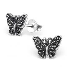 Kolczyki Srebrne Motylki