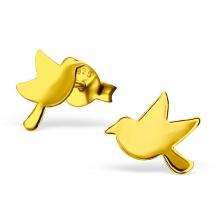 Kolczyki Złote Ptaszki
